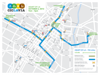 CicLAvia - Heart of LA Course Map